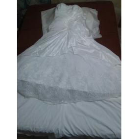 Vestido De Noiva Tipo Sereia E Tomara Que Caia.