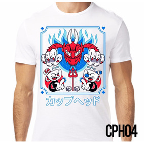 Playera Retromania Cuphead And Mugman Japan Devil $220