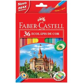 Lapiz De Cor Faber Castell C/ 36 Cores ( + Um Apontador )