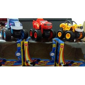 Blaze And Monster Machines - Kit Com 3 Carrinhos Grandes!!