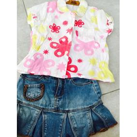 380. Lote: Camisa Osh Kosh Y Minifalda Childrens Place.2años