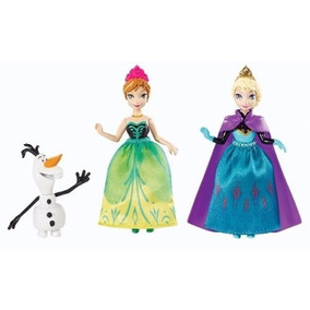 Set 3 Figuras Disney Frozen Matel Ana Elsa Y Olaf