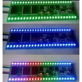 Vu Rgb Microcontrolado 2 Canais 48 Leds - Vários Efeitos.