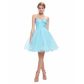Vestido De Debutante Azul 34 36 38 40 42 44 46 48 - Vg00148