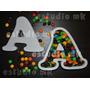7 Letras Huecas De 16 Cm Polifan Cumpleaños Candy Bar