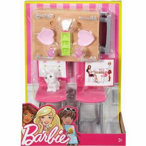 Brinquedo Barbie Acessórios Sala De Jantar Mattel Dvx45