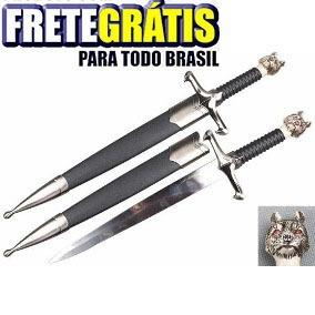 Mini Espada Game Of Thrones Jon Snow Lobo Frete Grátis