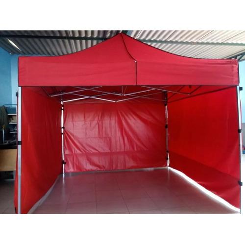 Tenda Sanfonada 3x4,5 Com 3 Laterais Fechadas