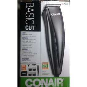 Maquina Afeitar Afeitadora Conair Kit Juego 10 Piezas Hc01