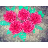 Flores Gigantes De Papel Kit Bella Y Bestia, Candy Bar, B