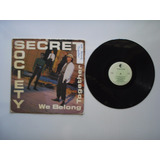Lp Vinilo Secret Society We Belond Together Printed Usa 1988