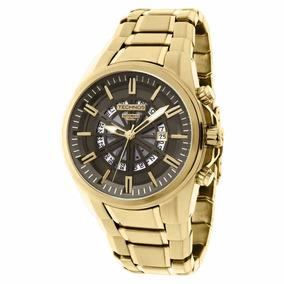 Relógio Automático Dourado Technos Fundo De Vidro - Promo
