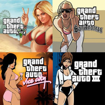Ps3 Pacote Gta 5 + 3 + Vice City + San Andreas Pronta Entreg