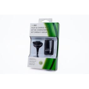 Bateria +cabo Carregador De Controle/joystick Xbox 360 Preto