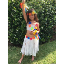 Disfraz Hawaiana Pollera, Top, Vincha