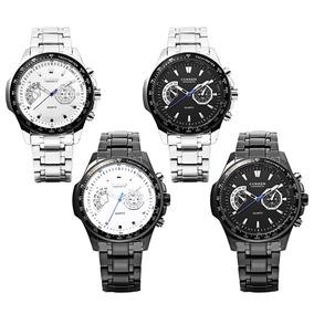Reloj De Pulsera Luminoso 8020 Decorativo Cuarzo Para Hombre