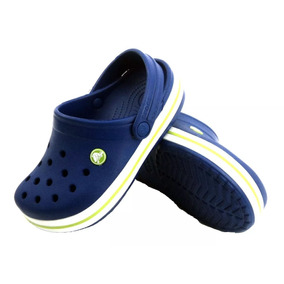 Zuecos De Goma Crocs Crocband Azul Eezap