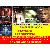 Silent Hill 2, 3, 4 E Origins Play (kit 5 Jogos Ps2 Suspense