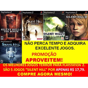 Silent Hill 2, 3, 4 E Origins Play (kit 5 Jogos Ps2 Suspense