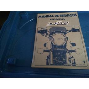 Manual Serviços Moto Honda Cb 400 Original Fábrica -