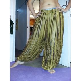 Calça Gênio Amarela Roupa P/ Dança Do Ventre (belly Dance)