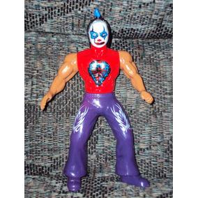 Luchador Articulado Monster Clown Lucha Libre Mexican Muñeco