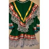 Vestido Folclórico De Danza Mexicana