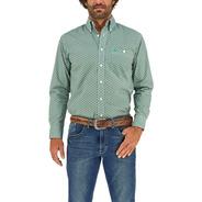 Camisa Vaquera Wrangler Hombre Manga Larga 86m