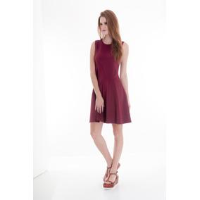 Vestido Sarah Bustani Vino Original + Envío Gratis