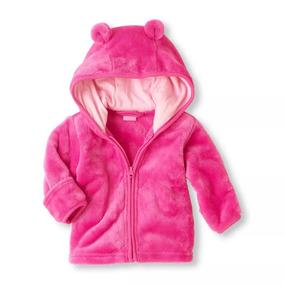 Roupa De Bebê Blusa Com Touca Microfibra Rosa Importado