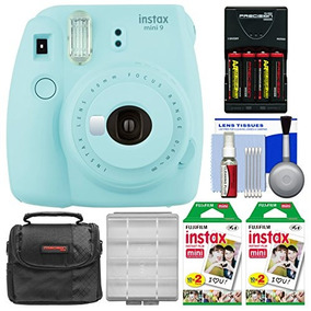 Fujifilm Instax Mini 9 Instant Film Camera (ice Blue) With 4