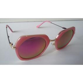 Óculos Sol Feminino Espelhado Rose Envio Imediato - Barato*
