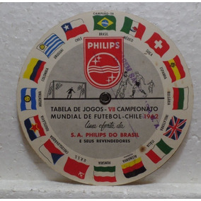 Rara Tabela Da Copa Do Mundo Do Chile. 1962. Phillips.