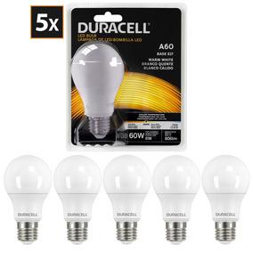 Kit Com 5 Lâmpadas De Led, Duracell Bulbo 8w - Amarela