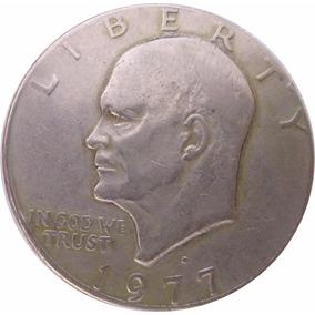 Oq Quaztly Moneda Un Dollar U. S. A. 1977 Eisenhower Cabezón