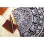 Elefante Mandala Tapicería Tapices Doble Blanco Y Negro Hip