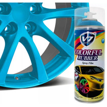 Tinta Spray Para Envelopar Roda V7 Expert 450ml Azul Fosco