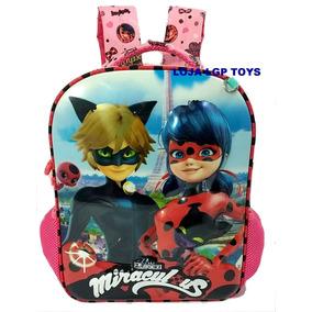 Mochila Costa Miraculous Ladybug Cat Noir 3d Alto Relevo