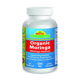 Nova Nutritions Organic Moringa 500 Mg 180 Veggie Capsules