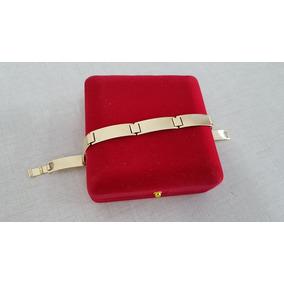 Pulseira Masculina Bracelete Folheado A Ouro Garantia - 6820