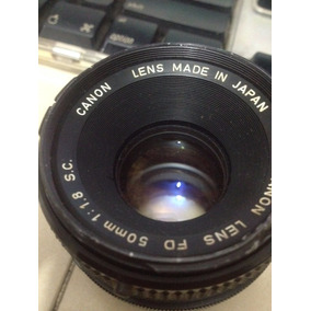 Lente Canon 50mm 1.8 Fd Alta Luminosidad
