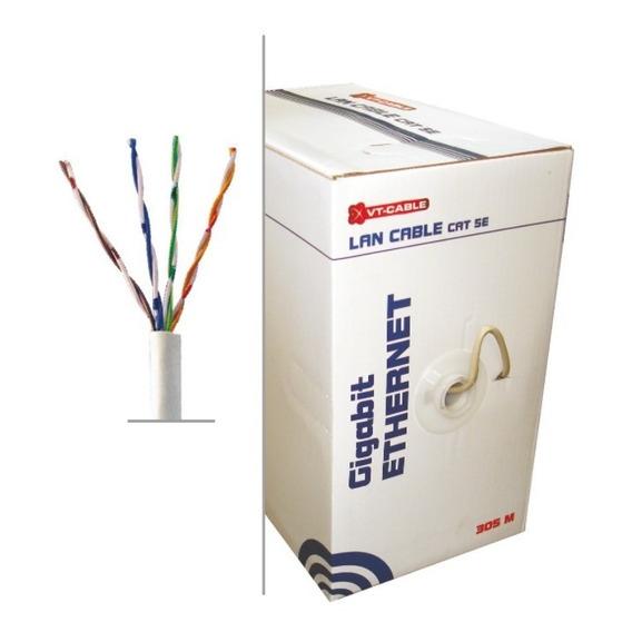 Cable Red Cat5e Utp Caja Bobina 100metros Excelente Lan Cctv