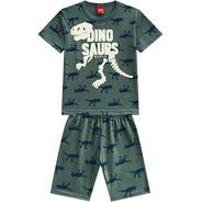 Pijama Infantil Kyly Menino Esqueleto Dinossauro