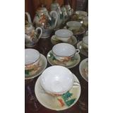 Jogo De Chá Porcelana Chinesa Casca De Ovo Década De 60