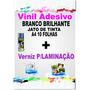 Vinil Branco+verniz P/laminação+transfer Light Jato D Tinta
