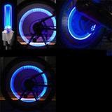 Luz Led De Seguridad Rueda Ó Decoración Bicicleta 4 Pzas