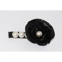 Prendedor Cabello Forma Flor Negro Pre10