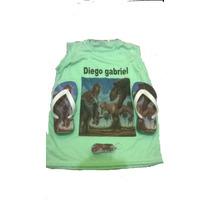 Kit Camisa E Chinelo Infantil Pessonalizado+chaveiro Gratis