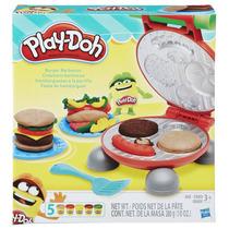 Play Doh Playset Festa Do Hamburguer Massinha Hasbro