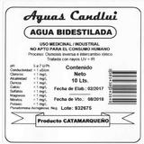 Agua Bi-destilada 10 Lts